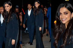 Deepika Padukone adds a fringe twist to her glamorous pantsuit and we are all for it!
